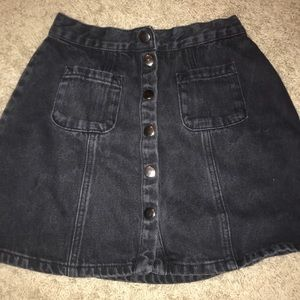 urban outfitters  button down jean skirt
